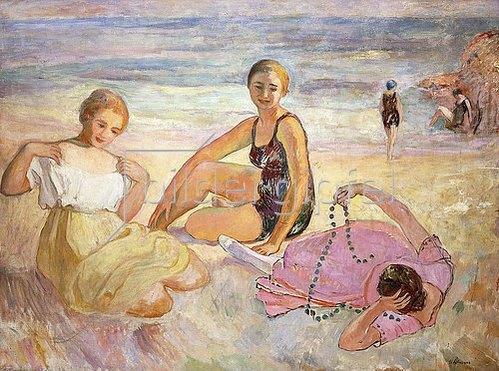 Henri Lebasque: Drei Frauen am Strand (Trois Femmes à la Plage).