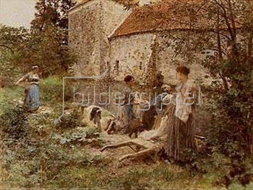 Leon Augustin Lhermitte: Die Wäscherinnen von Ru Chailly. 1892.
