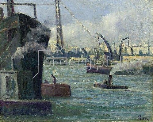 Maximilien Luce: Im Hafen von Rouen.