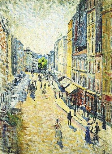 Maximilien Luce: La Rue des Abbesses. Um 1895