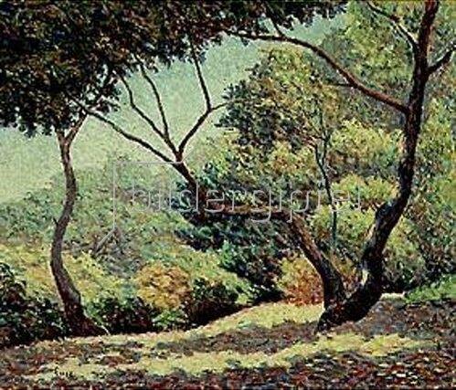 Maximilien Luce: Landschaft bei Saint-Tropez.