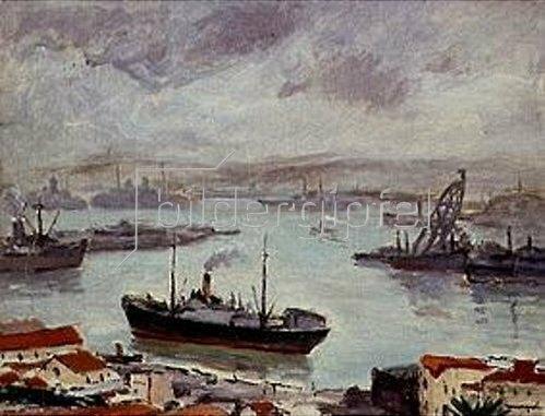 Albert Marquet: Der Hafen von Algier.