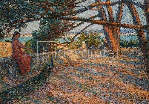 Henri Martin: Landschaft in der Provence bei Saint-Tropez.