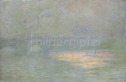 Claude Monet: Die Waterloo-Brücke in London im Abendlicht. 1902.