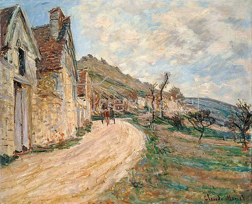 Claude Monet: Les Roches in Falaise bei Giverny. 1885