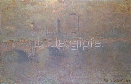 Claude Monet: London, Themse und Waterloo-Brücke im Dunst. 1903