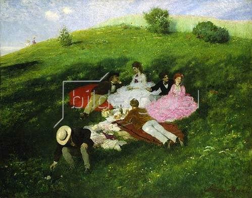 Pál Szinyei-Merse: Frühstück im Freien. 1873