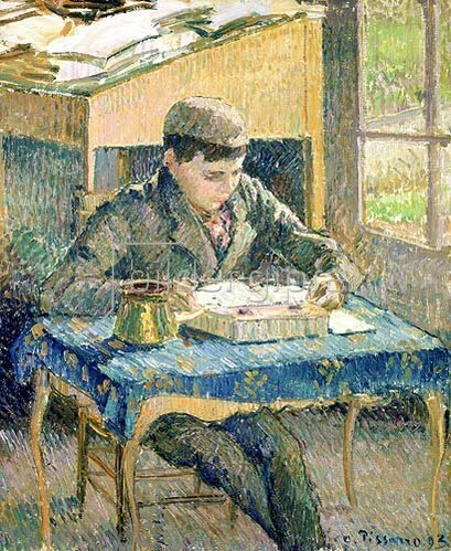 Camille Pissarro: Rodo beim Lesen. 1893.