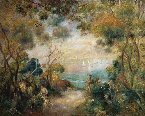 Auguste Renoir: Garten in Sorrent mit Blick auf das Meer.