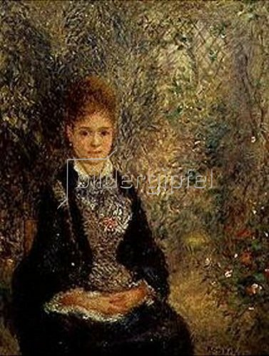 junge frau im garten la grisette von auguste renoir kunstdruck. Black Bedroom Furniture Sets. Home Design Ideas