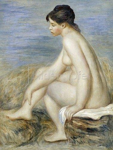 Auguste Renoir: Junge Frau nach dem Bade.