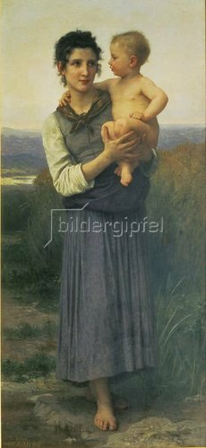 William Adolphe Bouguereau: Mutter mit Kind auf dem Arm. 1887