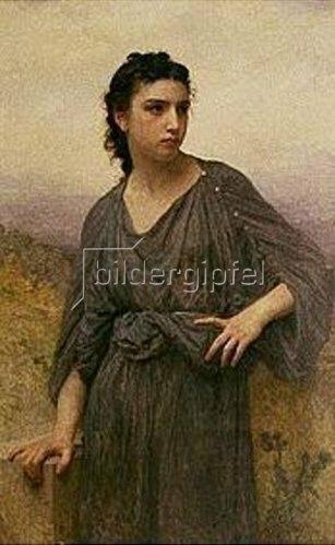 William Adolphe Bouguereau: Bildnis einer jungen Frau. 1909.