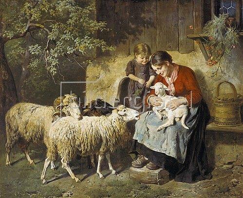 Adolph Eberle: Das neugeborene Lamm.