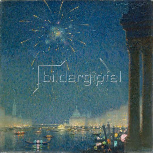 David Ericson: Feuerwerk beim Karneval in Venedig.