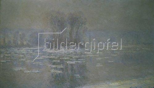 Claude Monet: Vereister Fluss bei Bennecourt. 1893.