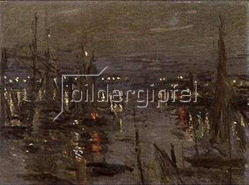 Claude Monet: Abendstimmung im Hafen von Le Havre.