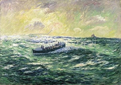 Henri Moret: Das Seerettungsboot von Audierne.