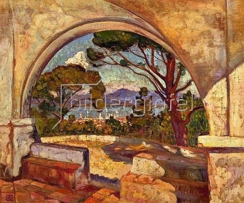 Theo van Rysselberghe: Blick von der Kapelle Saint-Anne auf Saint-Tropez. Um 1920