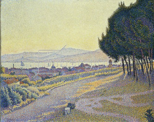 Paul Signac: Pinienwäldchen über Saint-Tropez.