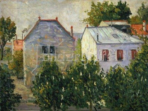 Paul Signac: Häuser und Gärten am Stadtrand von Asnières. 1883