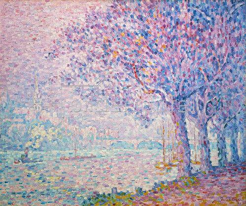 Paul Signac: Schleppdampfer auf der Seine bei St. Cloud. 1903