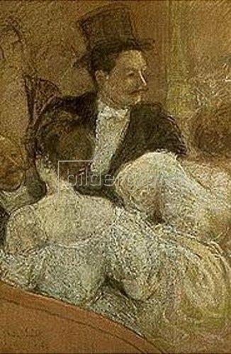 André Sinet: In der Opernloge. 1896.