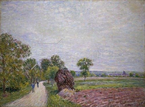 Alfred Sisley: Landstrasse in der Umgebung von Moret. 1885