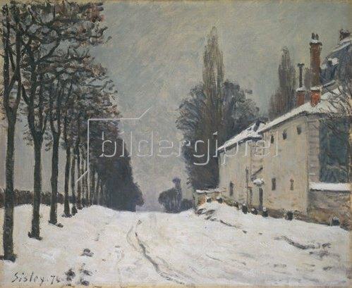 Alfred Sisley: Verschneite Strasse bei Louveciennes. 1874