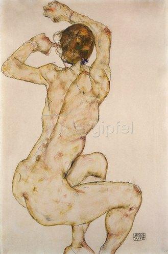 Egon Schiele: Die Kauernde. 1915.