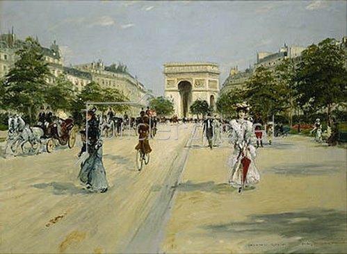 Georges Stein: Paris, Avenue du Bois de Boulogne.