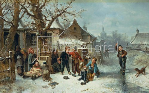 Mari(Johann M.Henri) Ten Kate: Winterfreuden.