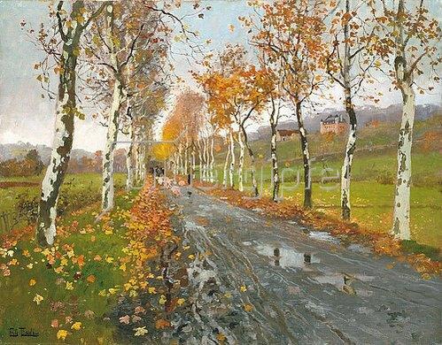 Frits Thaulow: Herbstliche Allee nach Beaulieu.