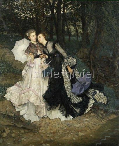 James Jacques Tissot: Ein Geheimnis. Um 1867