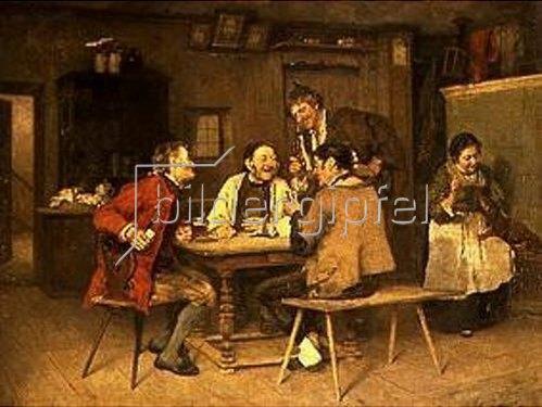 Heinrich Weber: Kartenspiel im Dorfwirtshaus. 1886.