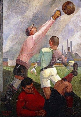 Angel Zárraga: Fussballspiel (Futbolistas en el Llano). 1924-28