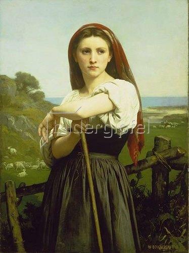 William Adolphe Bouguereau: Die Hirtin. 1868.