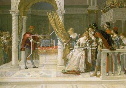Alexandre Cabanel: Der Kaufmann von Venedig. 1881.