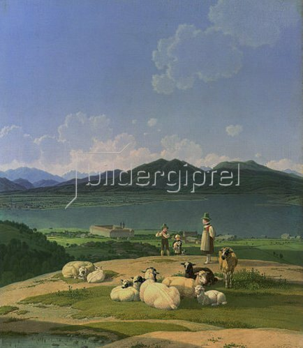 Wilhelm von Kobell: Blick auf den Tegernsee. 1833
