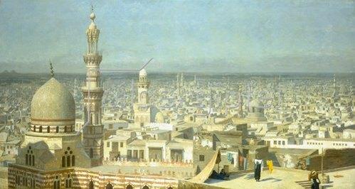 Jean-Léon Gérome: Blick über Kairo.