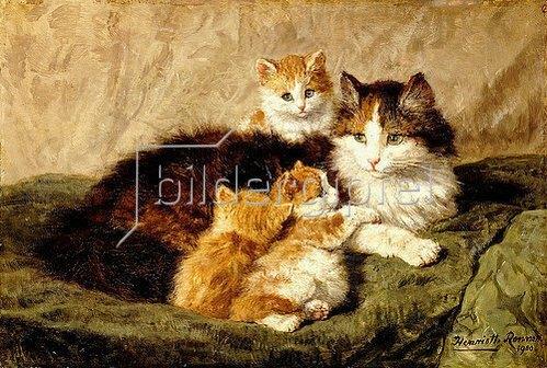 Henrietta Ronner-Knip: Katzen. 1900