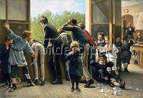 Auguste Joseph Truphème: Bevor der Lehrer kommt.