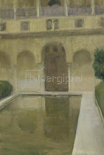 Joaquin Sorolla: Patio de la Alberca, Granada. 1917.