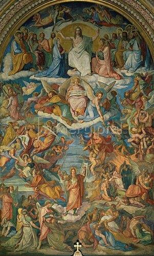 Peter von Cornelius: Das jüngste Gericht, Chorfresko.