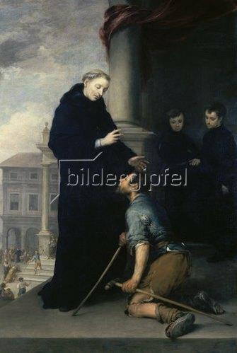 Bartolomé Estéban Murillo: Der hl.Thomas von Villanueva heilt einen Kranken.