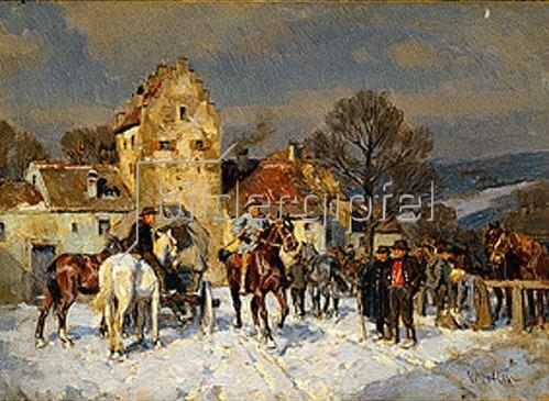 Wilhelm Velten: Pferdemarkt in Franken