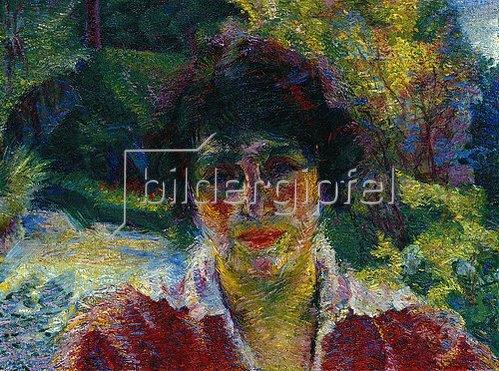 Umberto Boccioni: Bildnis der Armida Brucky. 1909.