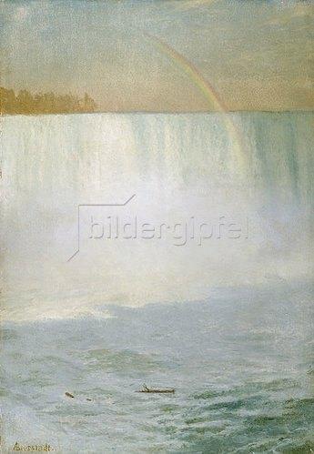 Albert Bierstadt: Regenbogen über den Niagara-Fällen.