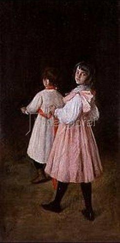 William Merrit Chase: Kinder beim Pferdchen spielen.
