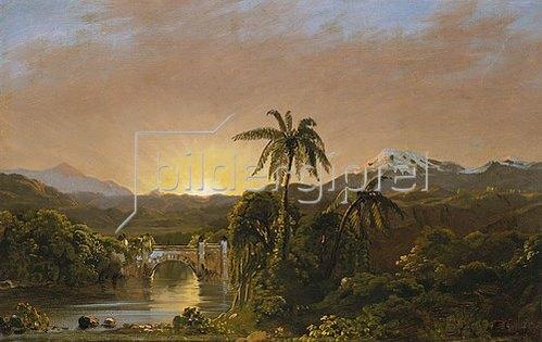 Frederic Edwin Church: Sonnenuntergang in Ecuador. 1854